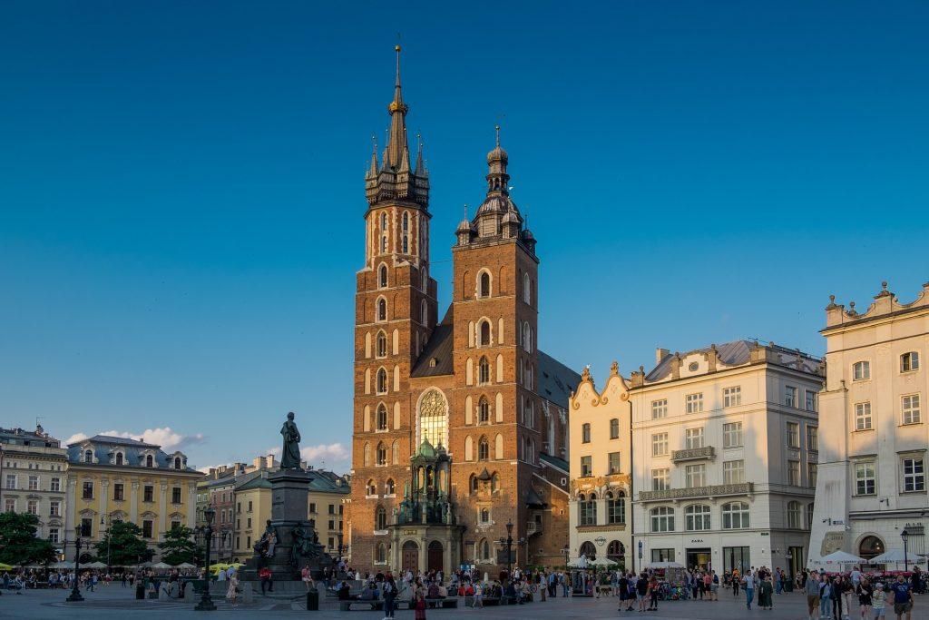 Kerk tijdens groepsreis Polen