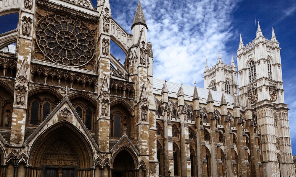 Westminster Abbey Londen met studenten